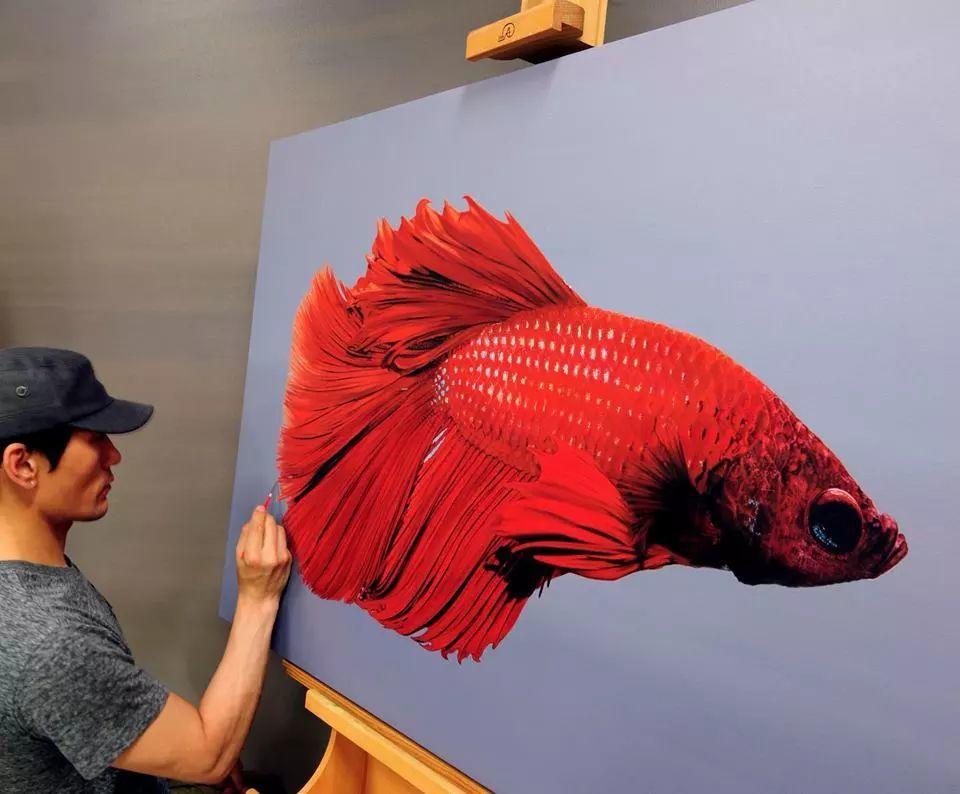他是韩国超写实第一人,一幅画卖90万,看完简直怀疑人生!插图34