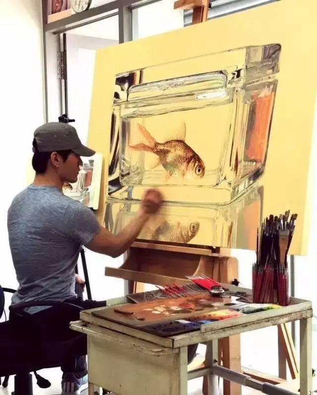 他是韩国超写实第一人,一幅画卖90万,看完简直怀疑人生!插图70