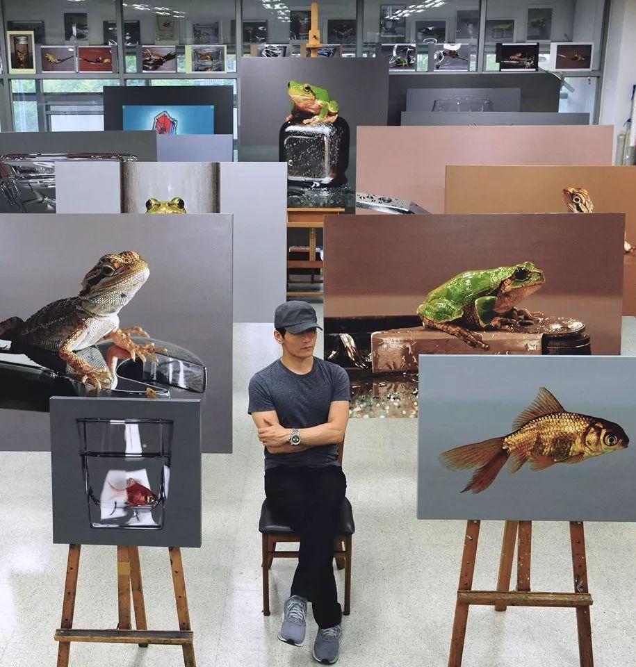 他是韩国超写实第一人,一幅画卖90万,看完简直怀疑人生!插图74