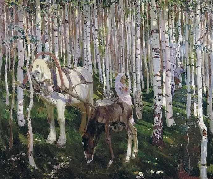 俄罗斯象征主义画家Arkady Rylov插图5