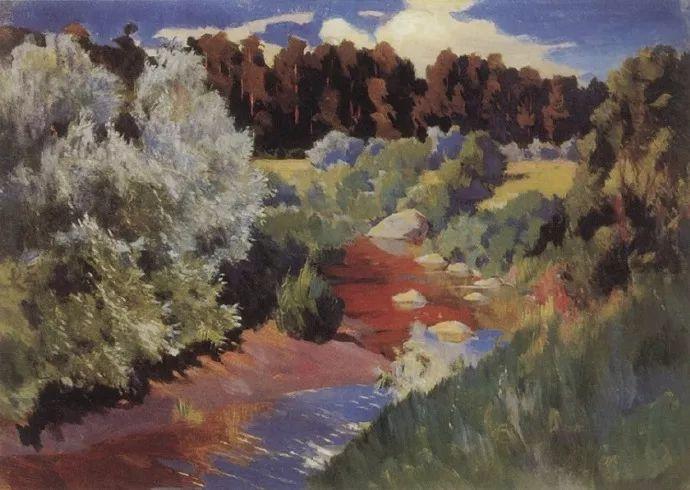 俄罗斯象征主义画家Arkady Rylov插图36
