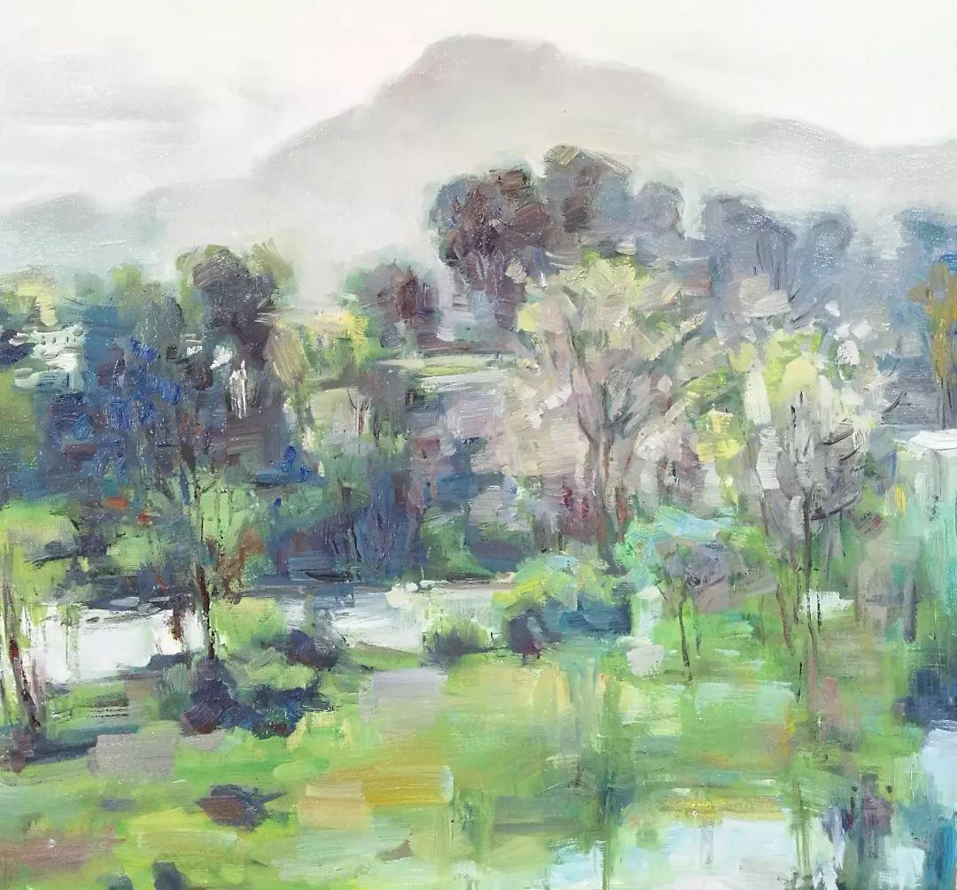 山水画般的诗意——张洪油画作品欣赏插图39