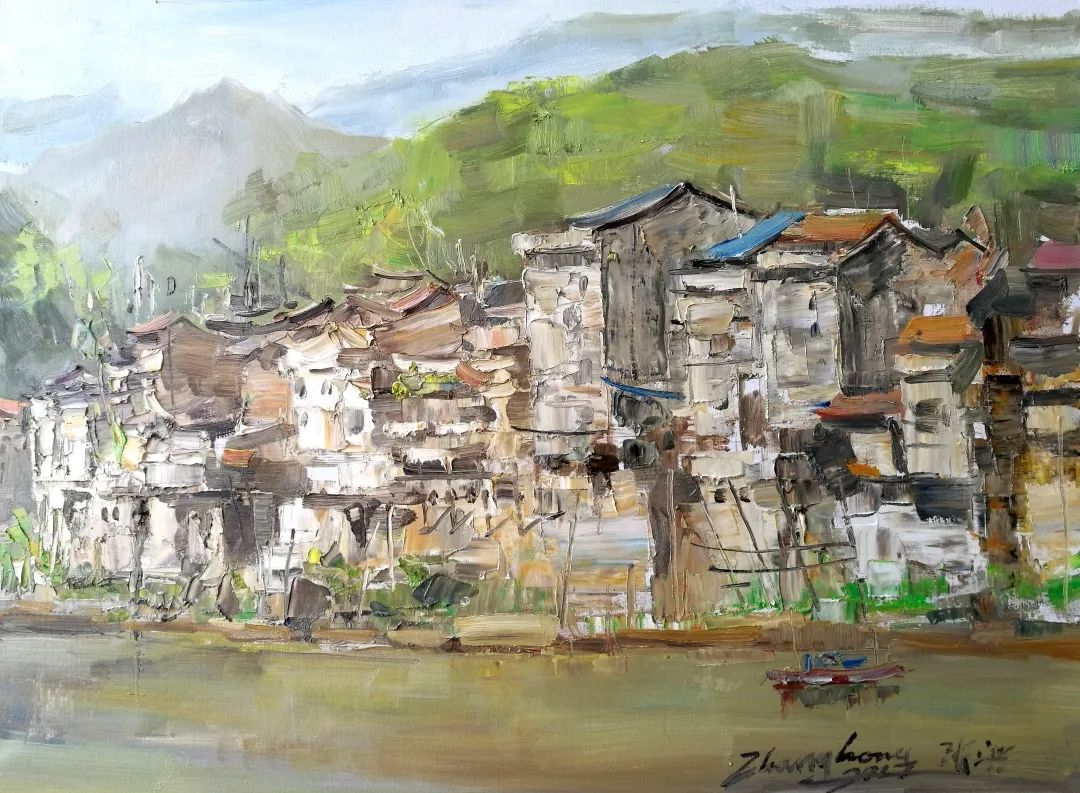 山水画般的诗意——张洪油画作品欣赏插图43