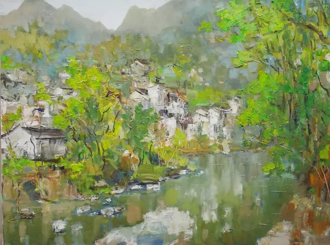 山水画般的诗意——张洪油画作品欣赏插图45