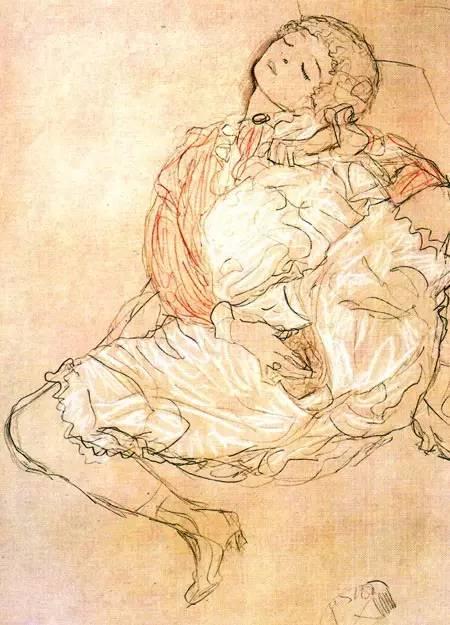 价值10亿,女性妖娆的线条——克里姆特插图197