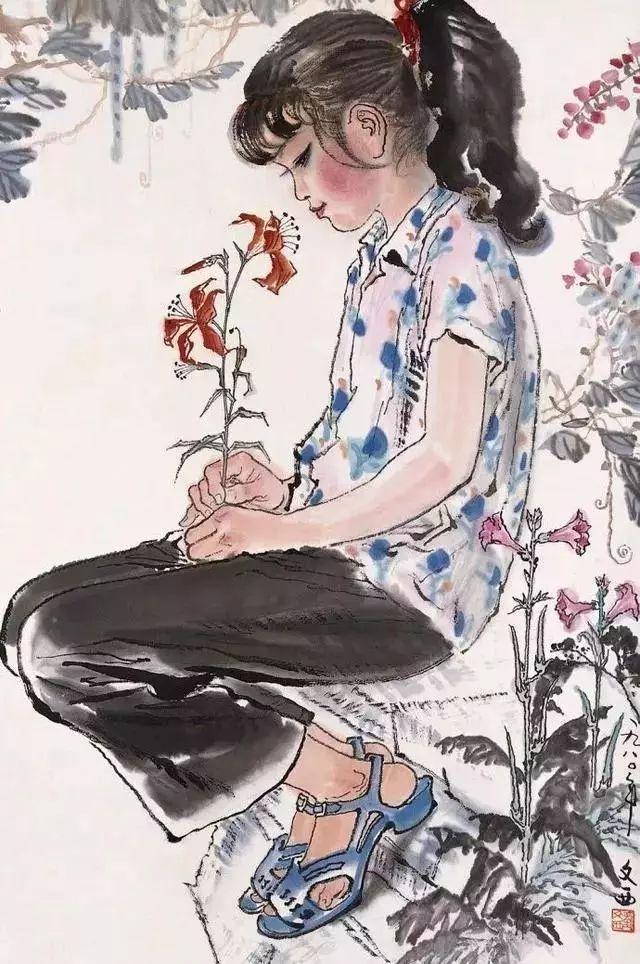 缅怀刘文西,他的画被印在人民币上插图41