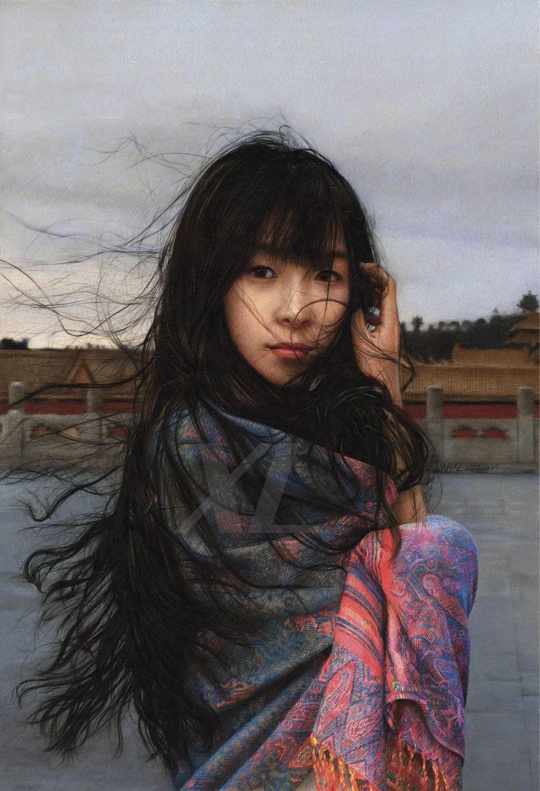 清华才子晒出他画中的小美女,惊艳了四方!插图28