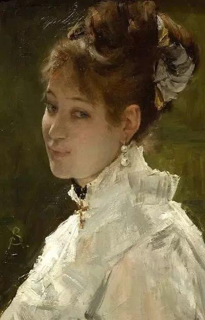 画中女子美丽优雅 个个身穿华丽有质感的服装插图9