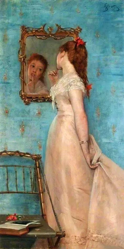 画中女子美丽优雅 个个身穿华丽有质感的服装插图11