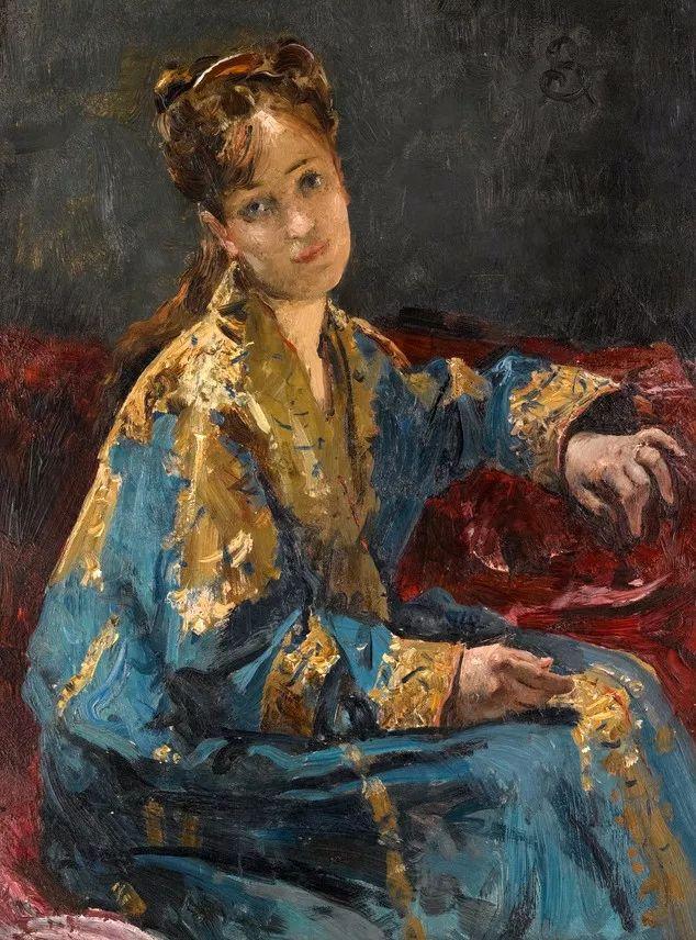 画中女子美丽优雅 个个身穿华丽有质感的服装插图39