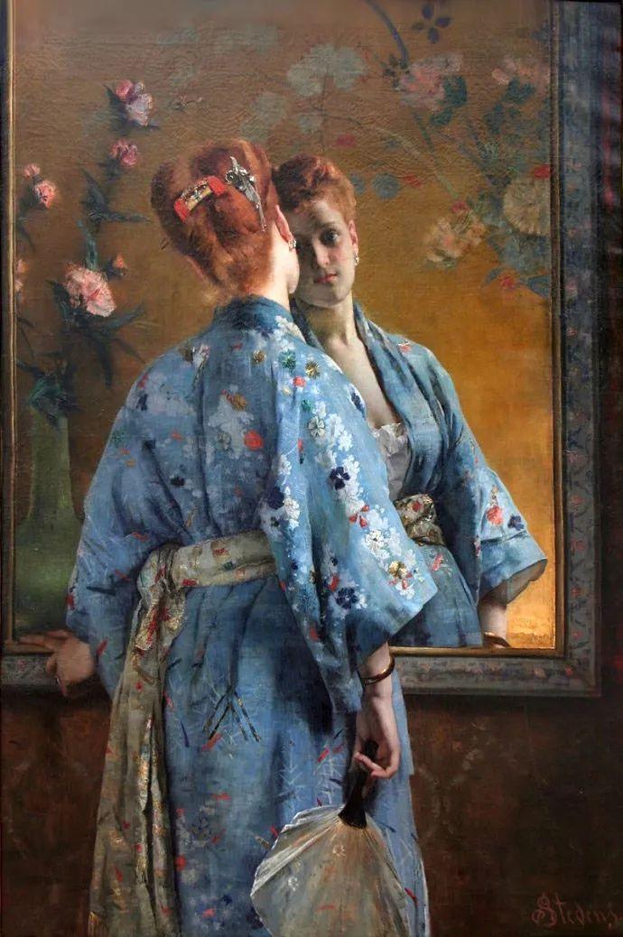 画中女子美丽优雅 个个身穿华丽有质感的服装插图45