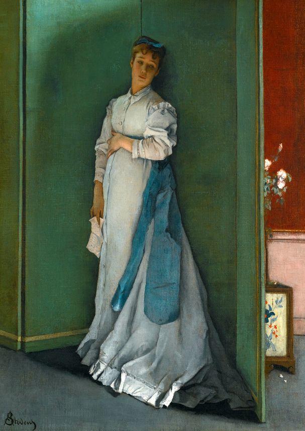 画中女子美丽优雅 个个身穿华丽有质感的服装插图83