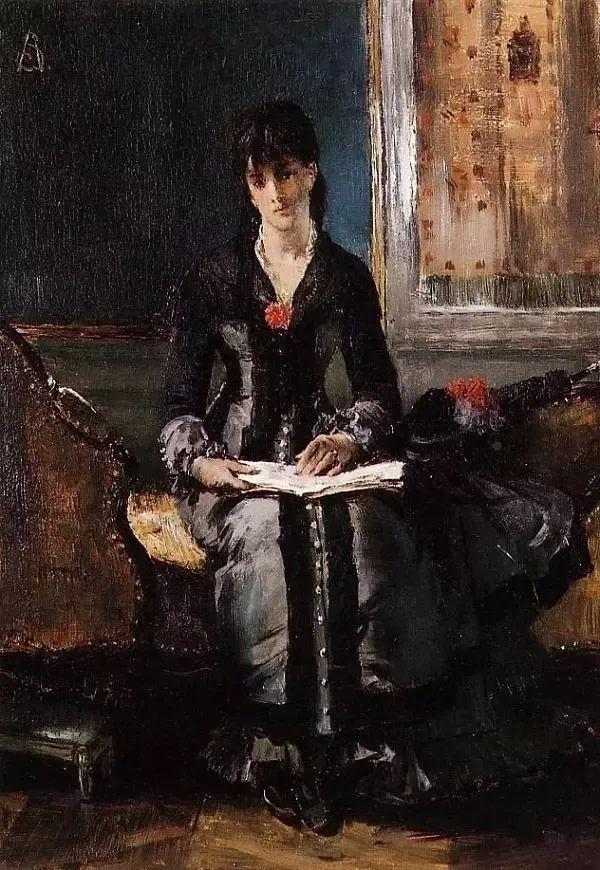 画中女子美丽优雅 个个身穿华丽有质感的服装插图85