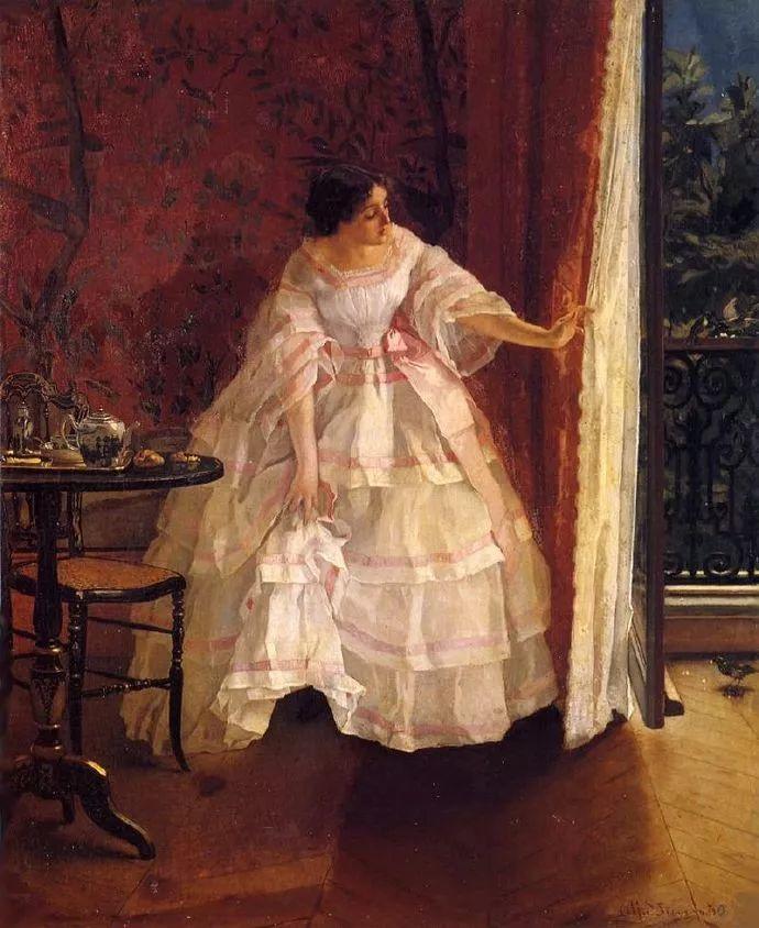 画中女子美丽优雅 个个身穿华丽有质感的服装插图87
