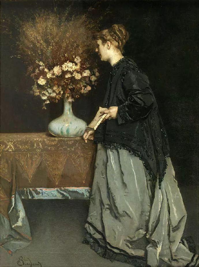 画中女子美丽优雅 个个身穿华丽有质感的服装插图89
