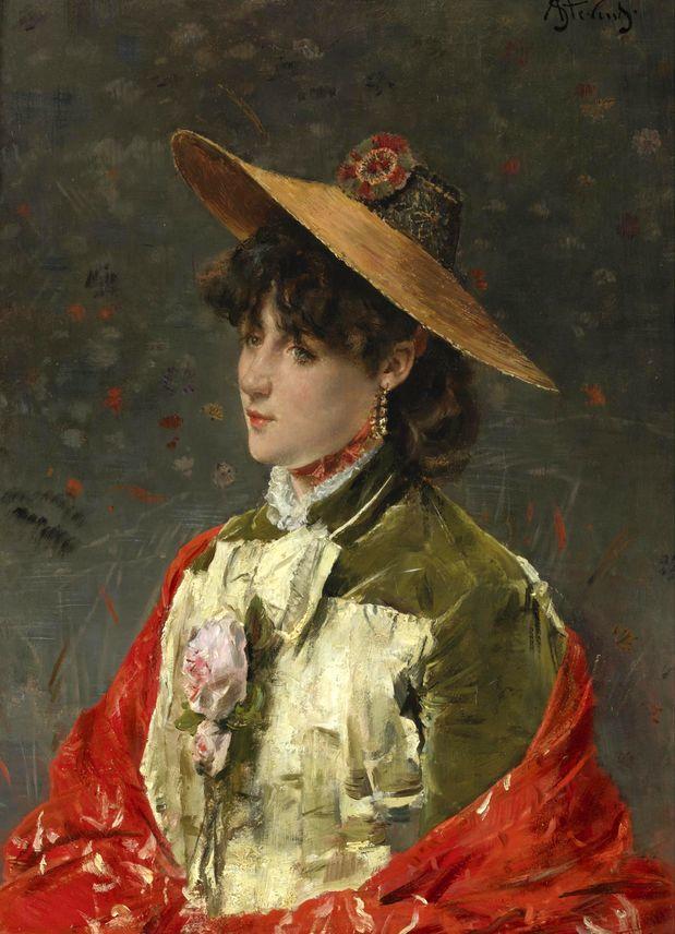 画中女子美丽优雅 个个身穿华丽有质感的服装插图93