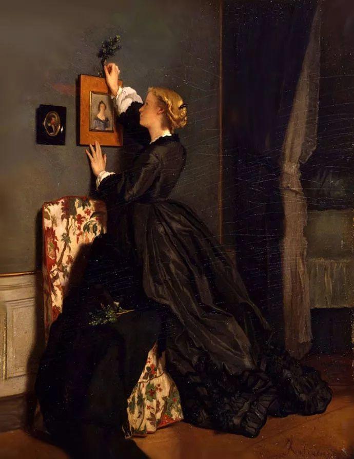 画中女子美丽优雅 个个身穿华丽有质感的服装插图95