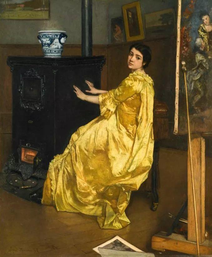 画中女子美丽优雅 个个身穿华丽有质感的服装插图97