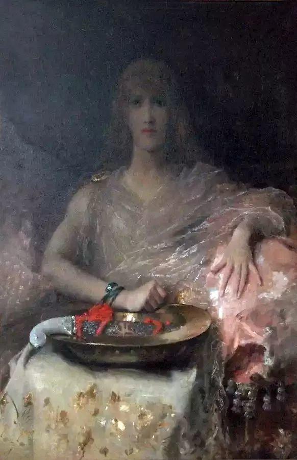 画中女子美丽优雅 个个身穿华丽有质感的服装插图121