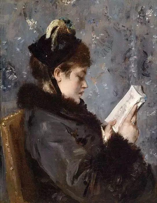画中女子美丽优雅 个个身穿华丽有质感的服装插图123