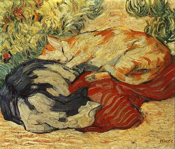 德国表现文画家弗朗兹·马克作品欣赏插图