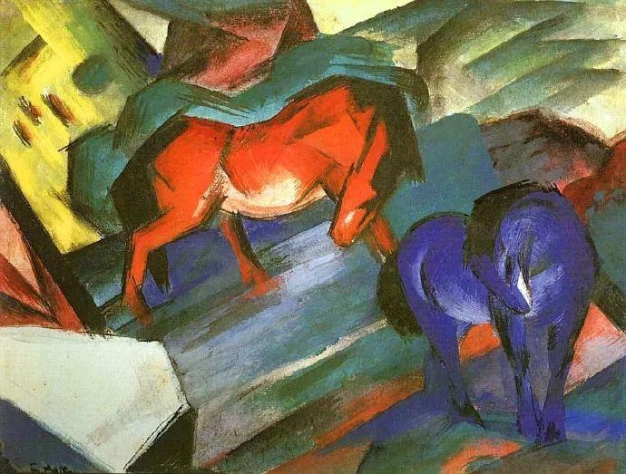 德国表现文画家弗朗兹·马克作品欣赏插图9