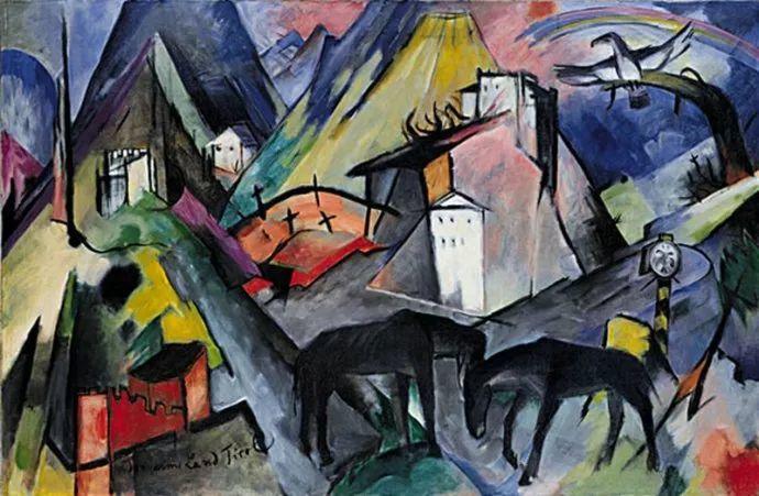 德国表现文画家弗朗兹·马克作品欣赏插图16