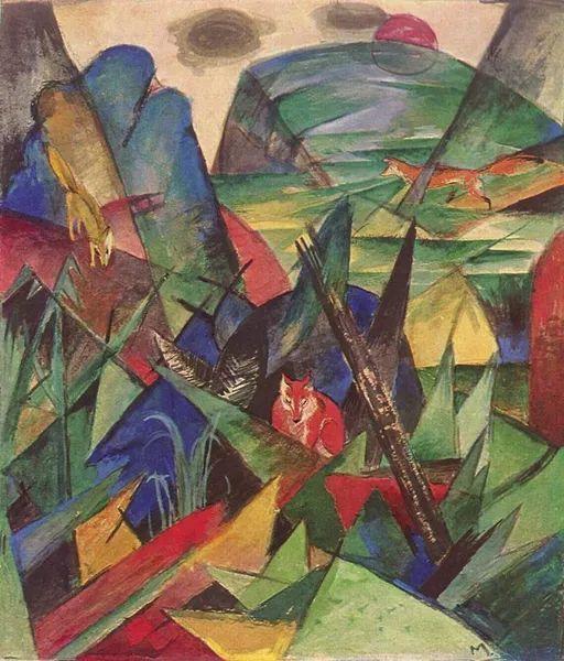 德国表现文画家弗朗兹·马克作品欣赏插图18