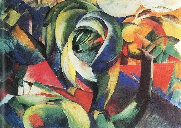 德国表现文画家弗朗兹·马克作品欣赏插图23