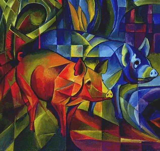 德国表现文画家弗朗兹·马克作品欣赏插图24