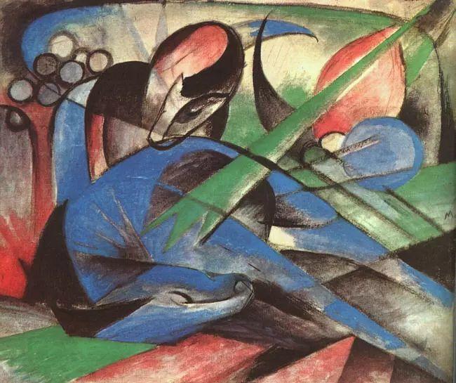 德国表现文画家弗朗兹·马克作品欣赏插图25