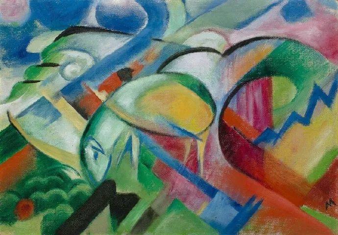 德国表现文画家弗朗兹·马克作品欣赏插图28