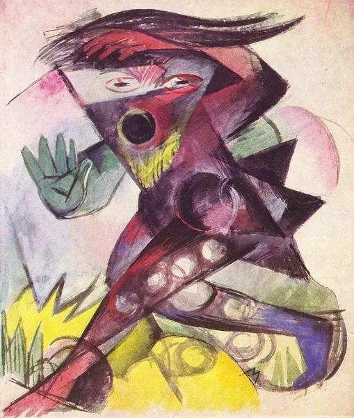 德国表现文画家弗朗兹·马克作品欣赏插图32