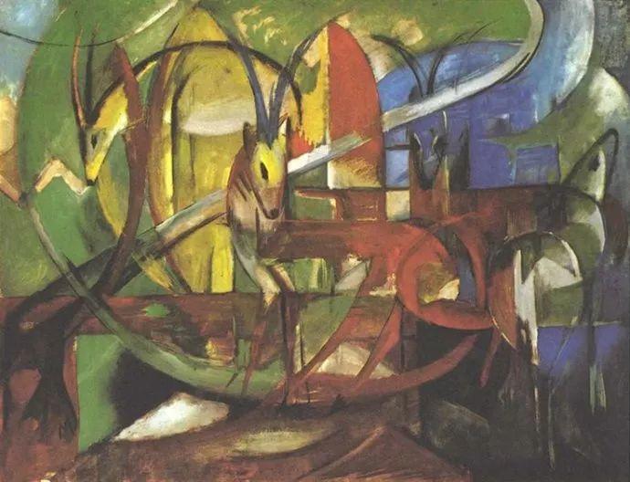 德国表现文画家弗朗兹·马克作品欣赏插图33