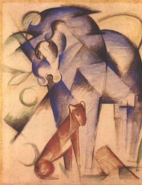 德国表现文画家弗朗兹·马克作品欣赏插图34