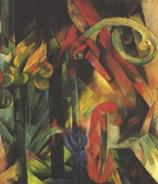 德国表现文画家弗朗兹·马克作品欣赏插图38