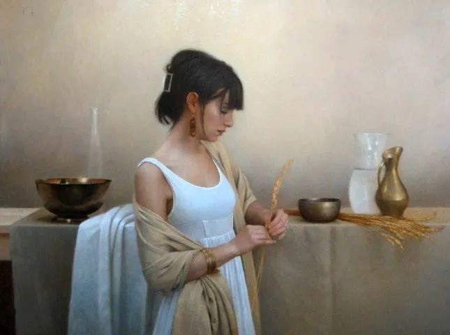 精美人物油画——美国艺术家David Gray插图19
