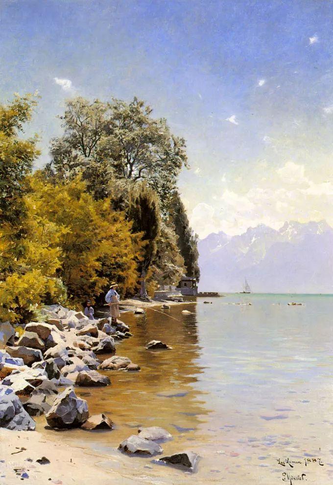 他的画描绘了一派祥和的田园风光,安静美好插图1