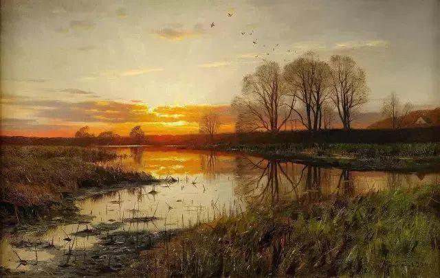 他的画描绘了一派祥和的田园风光,安静美好插图3