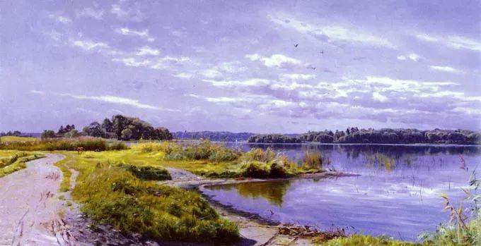 他的画描绘了一派祥和的田园风光,安静美好插图2