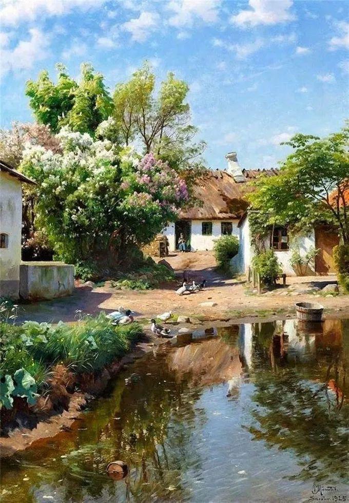 他的画描绘了一派祥和的田园风光,安静美好插图11