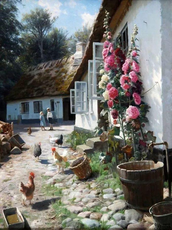他的画描绘了一派祥和的田园风光,安静美好插图13
