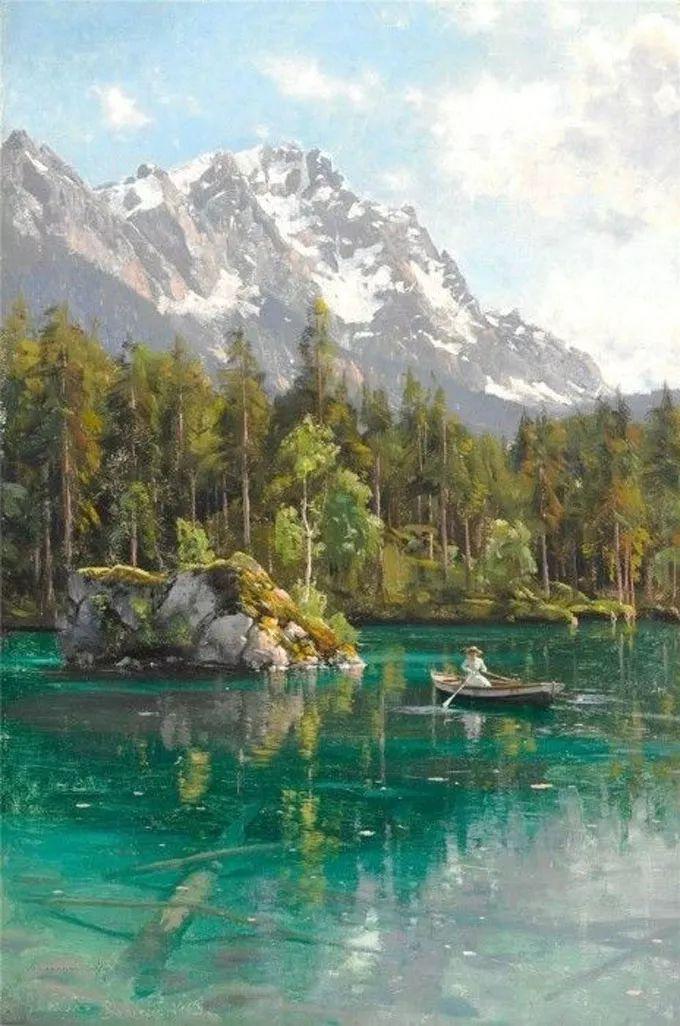 他的画描绘了一派祥和的田园风光,安静美好插图15