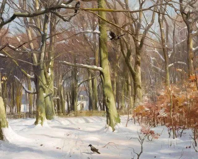 他的画描绘了一派祥和的田园风光,安静美好插图12