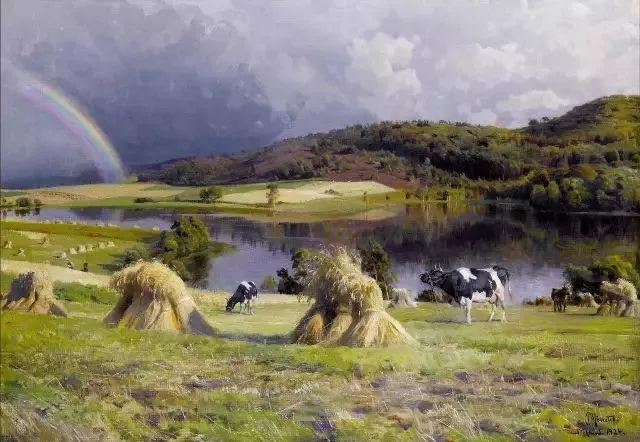 他的画描绘了一派祥和的田园风光,安静美好插图35