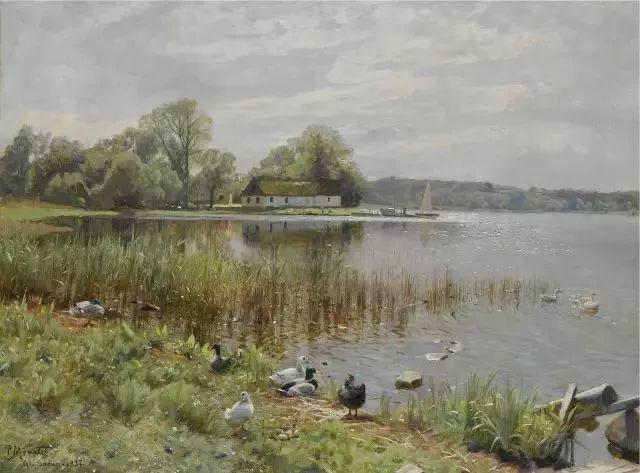 他的画描绘了一派祥和的田园风光,安静美好插图39