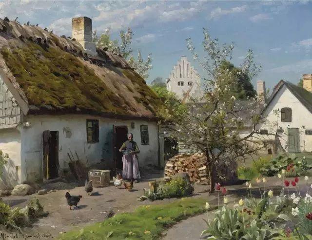 他的画描绘了一派祥和的田园风光,安静美好插图41