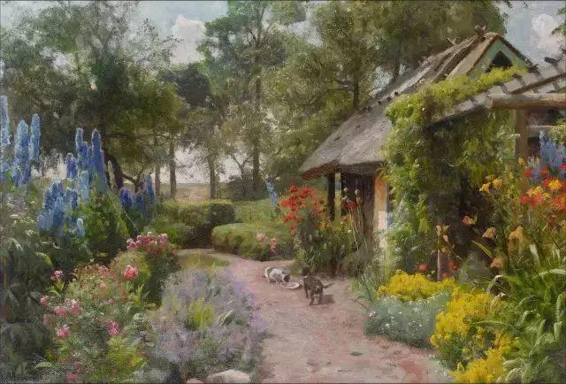 他的画描绘了一派祥和的田园风光,安静美好插图43