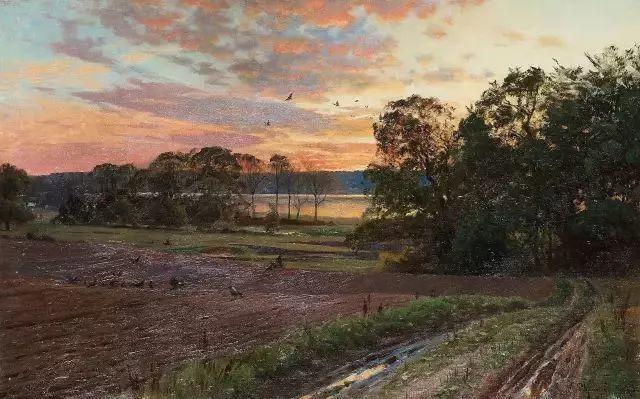 他的画描绘了一派祥和的田园风光,安静美好插图45