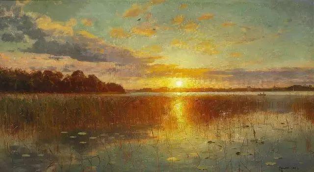 他的画描绘了一派祥和的田园风光,安静美好插图23